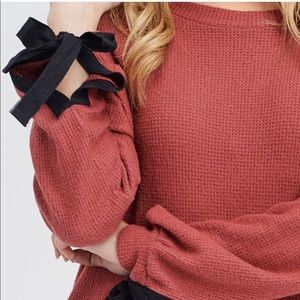 Beautiful Soft Textured Top in Marsala ❄️🍁
